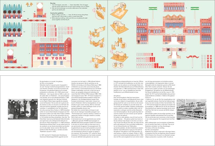 Binnenwerk met bouwplaat en tekstpagina's