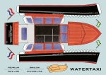 Platte modelbouwplaat van de Watertaxi