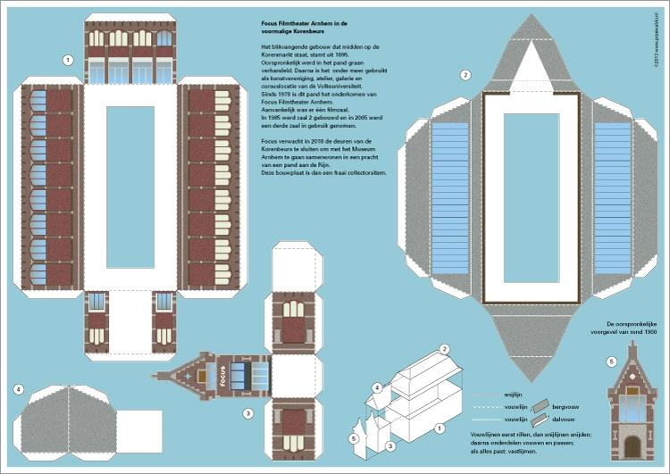 Platte modelbouwplaat van Focus Fimltheater
