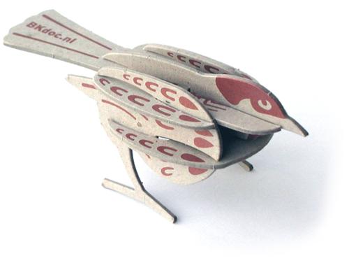 Model van de bouwplaat van een mus