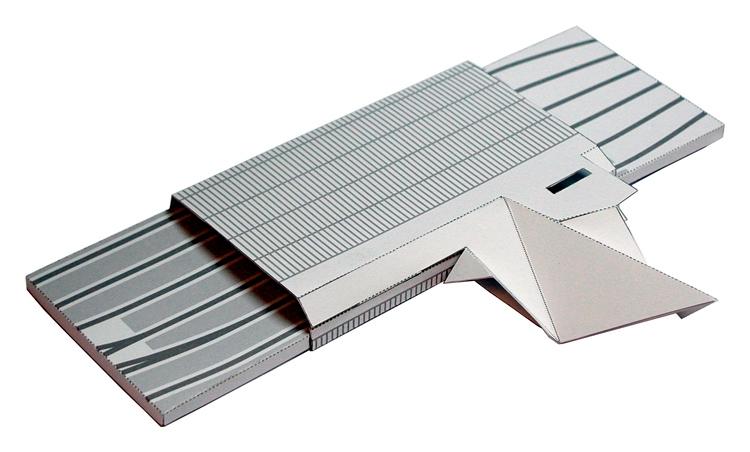 Model van de bouwplaat voor Rotterdam CS