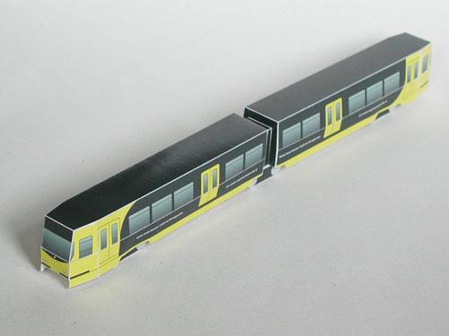 Een bouwplaat van de Utrechtse tram