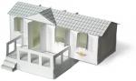 Model van de bouwplaat in een vakantiefolder