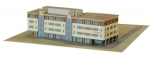 Ruimtelijk model van de bouwplaat op een verhuisbericht