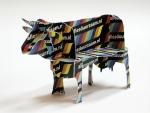 Een bouwplaat van een koe