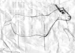 Een schetsje voor een stalen bok