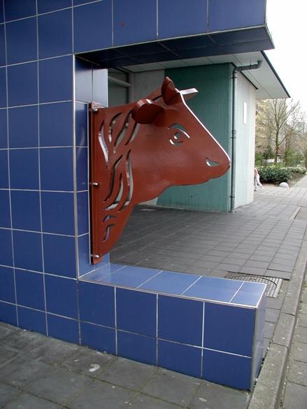 Een stalen koeienkop