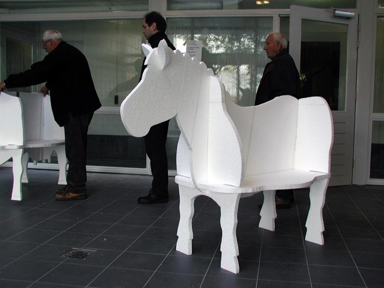 Het ruimtelijk schetsmodel voor het paard