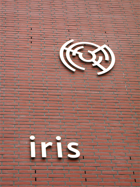 Letter en symbolen: iris