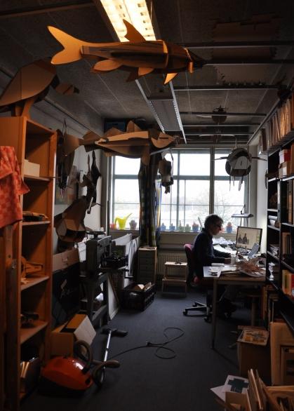 Peter van der Gulden in zijn atelier