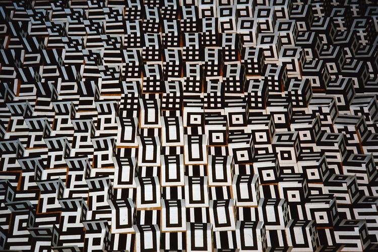 Detail van een ruimtelijk patroon