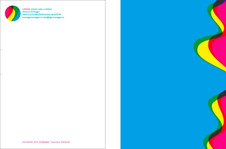 Briefpapier met een vloeibaar ontwerp