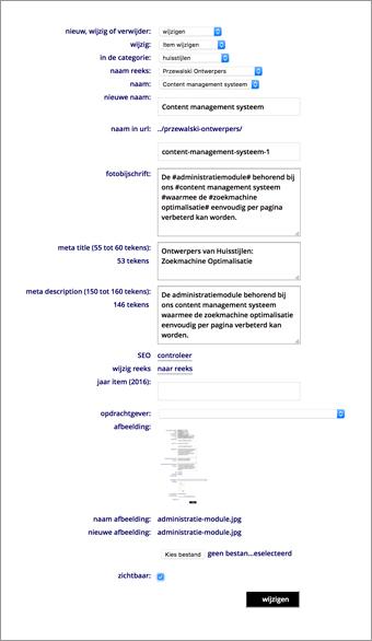 Content management systeem