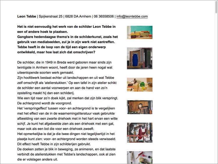 Een website voor Leon Tebbe