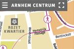 Alle varianten van onze centrumplattegrond van Arnhem