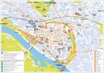 De stadsplattegrond in een scheurblok