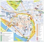 De plattegrond in de stadsgids