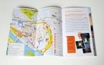 De stadsplattegrond in de stadsgids