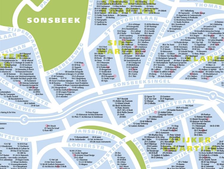 Een detail uit de plattegrond