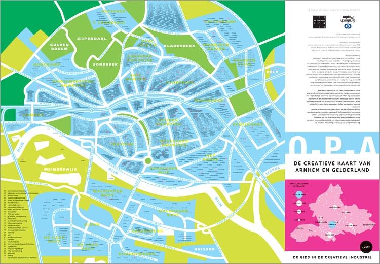 De opengevouwen plattegrond