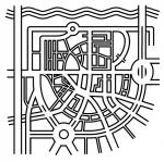 Een gestileerde centrumkaart