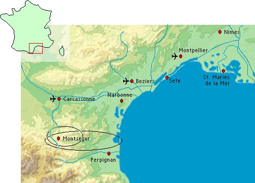 Plattegrond van de Cathares