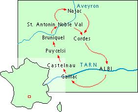 Wandelroute Tarn