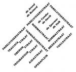 Een typografisch plattegrond van een wijk