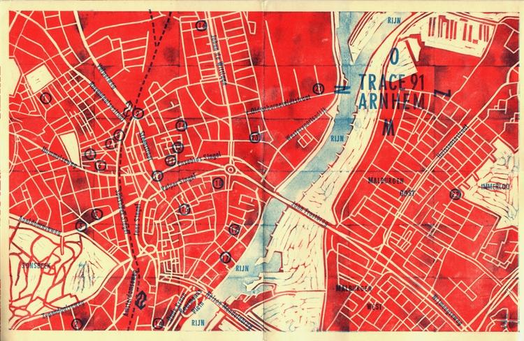 Een gestempelde plattegrond