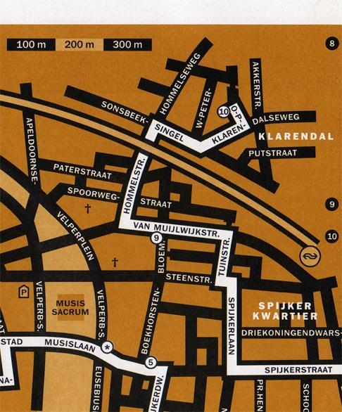 een detail van de routekaart
