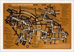 Een envelop met een routekaart