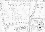 Schets voor briefpapier met een plattegrond