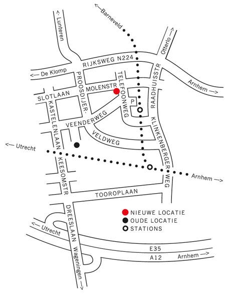 Een plattegrond op een verhuisbericht