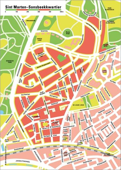 Een plattegrond voor in de wijkkrant