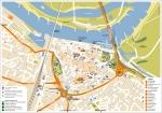 Een centrumkaart van Nijmegen
