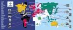 De wereldkaart voor in de personeelskantine